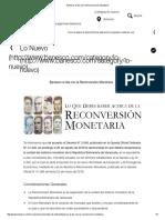 Banesco al día con la Reconversión Monetaria