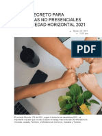 NUEVO DECRETO PARA ASAMBLEAS NO PRESENCIALES EN PROPIEDAD HORIZONTAL 2021