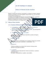 CHAPITRE I -Cours de Cinétique Et Catalys1