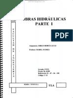 Obras Hidráulicas Parte I - Isabel Flores