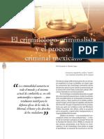 01 El Criminologo Criminalista y El Proceso Criminal Mexicano