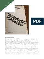 DESTRUYENDO FORTALEZAS