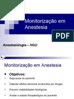 Monitorizao em Anestesia