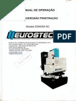 Manual de Operação - Eletroerosão Penetração
