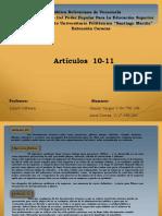 etica articulos 10 y 11