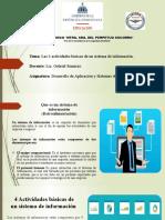 4 actividades basicas de un sistema de informacion