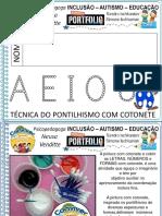 Técnica Do Pontilhismo Com Cotonete Números e Letras Psicopedagoga Neusa 5a2021