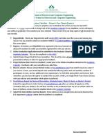 MSEE Project Graduation Checklist