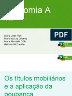 Os títulos mobiliários e a aplicação da poupançajjjj