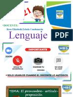 Lenguaje5 Promobre Articulo Preposicion