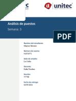 Maynor Moreno 41651071 RRHH Semana 2 Tarea 3.1 Analisis de Puestos