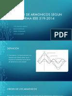 Estudio de armonicos segun norma IEEE 519-2014