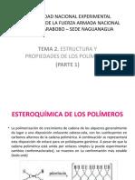 TEMA 2. ESTRUCTURA Y PROPIEDADES DE LOS POLÍMEROS(1)