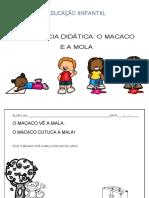 EDUCAÇÃO INFANTIL - SEQUÊNCIA DIDÁTICA O MACACO E A MOLA