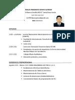 Alfredo Morales Peregrino CV