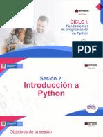 Slide-phyton Sesión 2 Semana 1