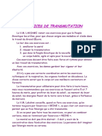 Exercices de Transmutation