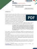 ARTIGO CIENTÍFICO - INCLUSÃO DE ALUNOS COM AEE