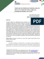RELATOS DE EXPERIÊNCIA NO CURSO DE LETRA LIBRAS - RELATÓRIO EM TEMPOS DE PANDEMIA