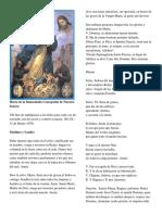 Horas de La Inmaculada Concepción de Nuestra Senora