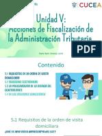 Producto Integrador Unidad V-Acciones de Fiscalización de la Administración Tributaria