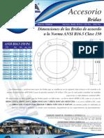 Dimensiones de las Bridas de acuerdo ANSI B16.5 CLASE 150