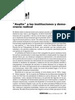 VS143 J Pastor PresentacioI n Plural Asalto a Las Instituciones y Democracia Radical