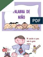 PALABRA DE NIÑO