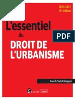 La formation du droit de l'urbanisme
