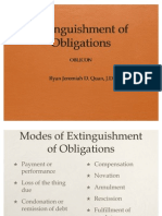 Lecture - Extinguishment of Obligations