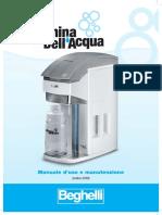 Macchina Dell'Acqua Beghelli Manuale Di Uso