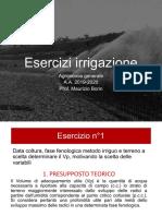 esercizi irrigazione 2020