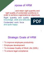 Purpose of HRM