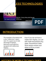 4G WIRELESS TECHNOLOGIES