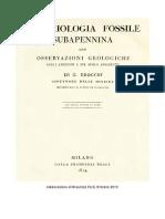 Brocchi - Ronchetti. Conchiologia Fossile Subapennina