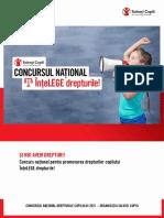 Concursul National Drepturile Copilului ÎnțeLEGE DREPTURILE