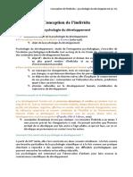 1- Psychologie du développement