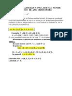 Produs CartezianSistem de Axe Ortog