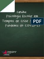 Cartilha Psicologia Escolar Em Tempos de Crise Sanitária Pandemia Do COVID-19