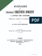 Monnaies des princes chrétiens d'Orient a l'époque des Croisades