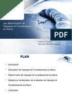 Determinants de l'Epargne Et de l'Investissement Au Maroc
