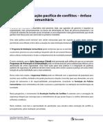 Módulo V - Meios de resolução pacífica de conflitos  - ênfase em mediação comunitária