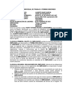 Contrato Laboral - Termino Indefinido Alberto Baez
