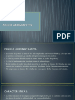 POLICIA ADMINISTRATIVA