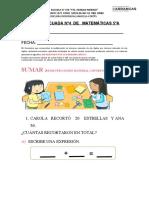 GUÍA ADECUADA Nº4  DE   MATEMÁTICAS 5ºA