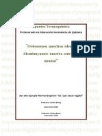Apuntes Termoquímica - Profesorado en Educación Secundaria de Química