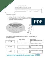 Guía Números hasta 1000  3º básico