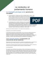 1 La conducta y el comportamiento humano