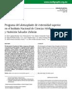 Programa de alotrasplante de ES en el INCMNSZ.