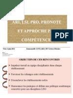 2 Info coordo LSLPro ARI et Compétences